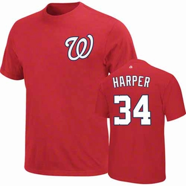Washington Nationals Bryce Harper YOUTH Player T-Shirt - Red