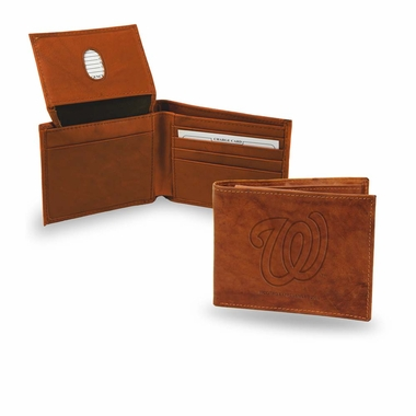 Washington Nationals Embossed Leather Bifold Wallet