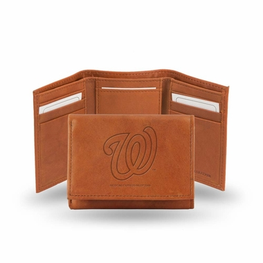 Washington Nationals Embossed Leather Trifold Wallet