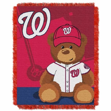 Washington Nationals Jacquard BABY Throw Blanket