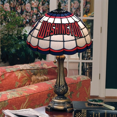 Washington Nationals Stained Glass Table Lamp