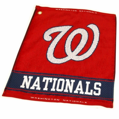 Washington Nationals Woven Golf Towel