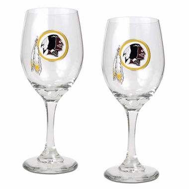 Washington Redskins 2 Piece Wine Glass Set