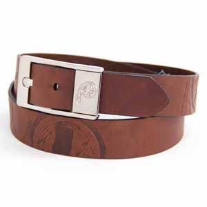 Washington Redskins Brown Leather Brandished Belt - Size 44 (For 42 Inch Waist)
