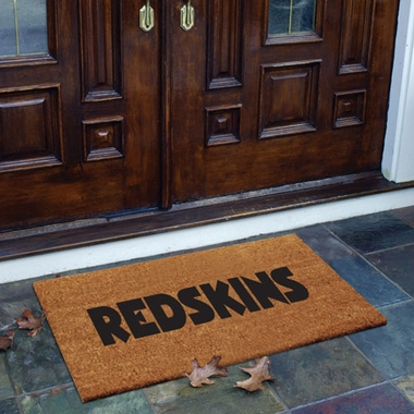 Washington Redskins Flocked Coir Doormat