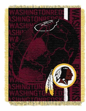 Washington Redskins Jacquard Woven Throw Blanket