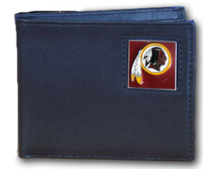 Washington Redskins Leather Bifold Wallet (F)