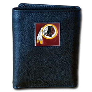 Washington Redskins Leather Trifold Wallet (F)