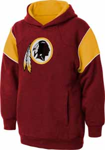 Washington Redskins NFL YOUTH Color Block Pullover Hooded Sweatshirt - Small