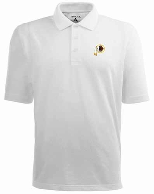 Washington Redskins Mens Pique Xtra Lite Polo Shirt (Color: White)