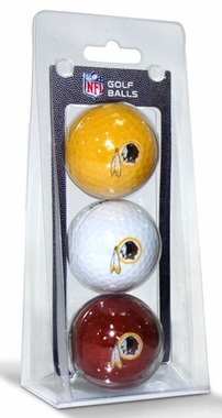 Washington Redskins Set of 3 Multicolor Golf Balls