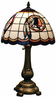 Washington Redskins Stained Glass Table Lamp