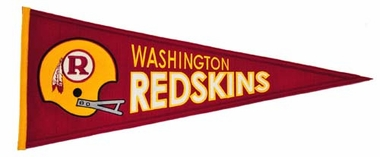 Washington Redskins Throwback Wool Pennant