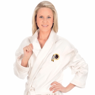 Washington Redskins UNISEX Bath Robe (White)