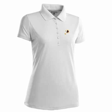 Washington Redskins Womens Pique Xtra Lite Polo Shirt (Color: White)