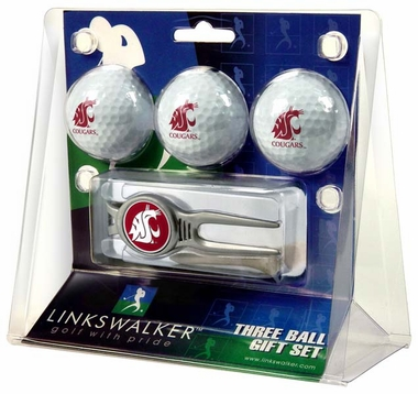 Washington State 3 Ball Gift Pack With Kool Tool
