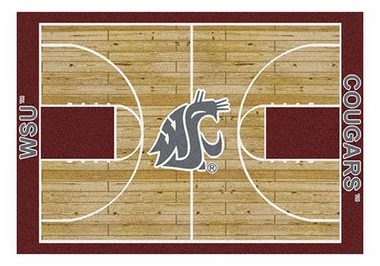 "Washington State 5'4"" x 7'8"" Premium Court Rug"