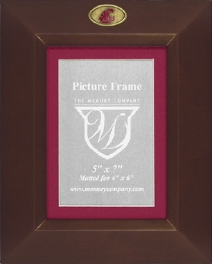 Washington State BROWN Portrait Picture Frame