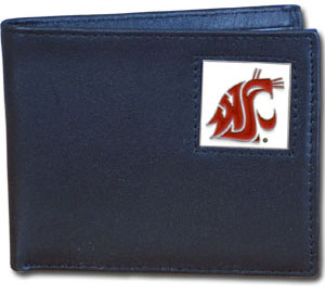 Washington State Leather Bifold Wallet (F)