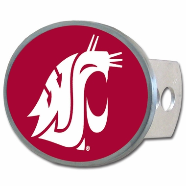 Washington State Oval Metal Hitch Cover