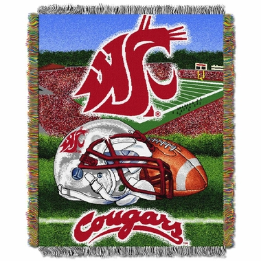 Washington State Woven Tapestry Blanket