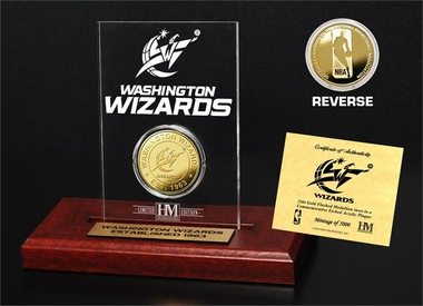 Washington Wizards Gold Coin Etched Acrylic