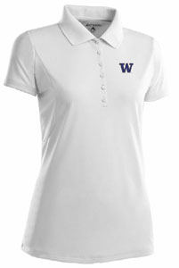 Washington Womens Pique Xtra Lite Polo Shirt (Color: White) - Small