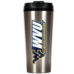 West Virginia 16 oz. Thermo Travel Tumbler