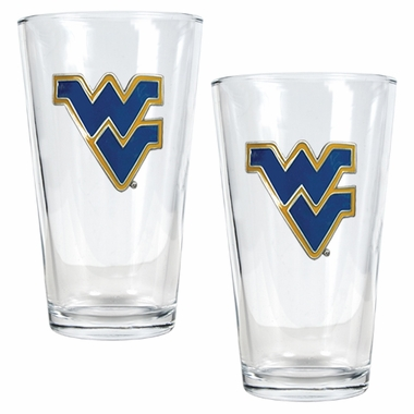 West Virginia 2 Piece Pint Glass Set