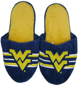 West Virginia 2011 Team Stripe Slide Slippers - X-Large