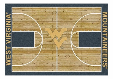 "West Virginia 5'4"" x 7'8"" Premium Court Rug"