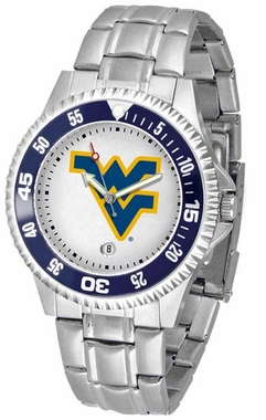 West Virginia Competitor Men's Steel Band Watch