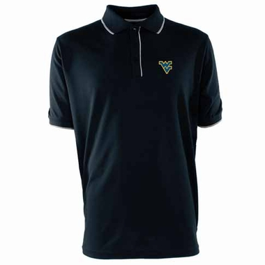 West Virginia Mens Elite Polo Shirt (Color: Navy)