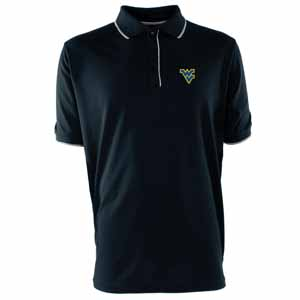 West Virginia Mens Elite Polo Shirt (Color: Navy) - Medium