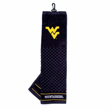 West Virginia Embroidered Golf Towel