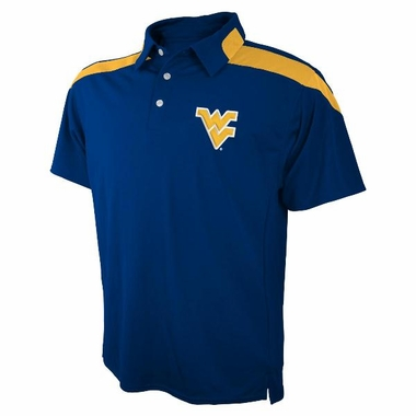West Virginia Embroidered Logo Polyester Polo Shirt