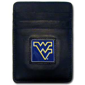 West Virginia Leather Money Clip (F)
