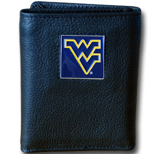West Virginia Leather Trifold Wallet (F)
