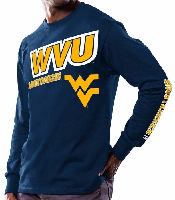West virginia mountaineers majestic points earned men 39 s for Uva long sleeve t shirt