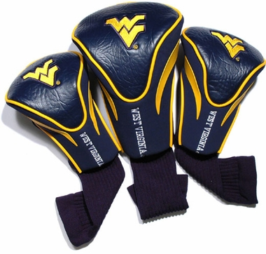 West Virginia Set of Three Contour Headcovers