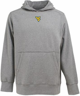 West Virginia Mens Signature Hooded Sweatshirt (Color: Gray)