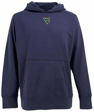 West Virginia Mens Signature Hooded Sweatshirt (Color: Navy)