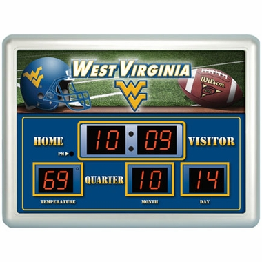 West Virginia Time / Date / Temp. Scoreboard