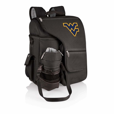 West Virginia Turismo Embroidered Backpack (Black)