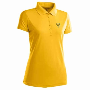 West Virginia Womens Pique Xtra Lite Polo Shirt (Color: Gold)