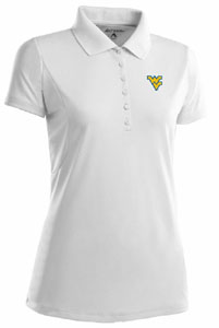 West Virginia Womens Pique Xtra Lite Polo Shirt (Color: White) - X-Large
