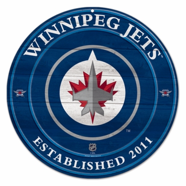 Winnipeg Jets 19.75 Inch Wood Sign