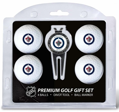 Winnipeg Jets 4 Ball and Divot Tool Set