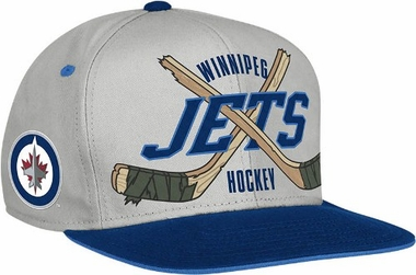 Winnipeg Jets Cross Sticks Snap back Hat