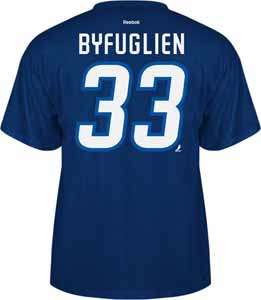 Winnipeg Jets Dustin Byfuglien Name and Number T-Shirt - Large